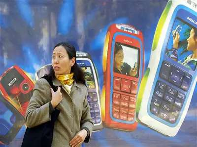 China manufactures 10 times as many cell phones per person compared with the rest of the world.
