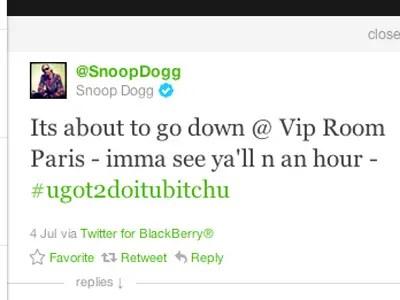 Snoop Dogg, rapper: Blackberry