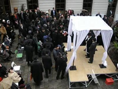 Jewish wedding ceremonies are filled with symbolism
