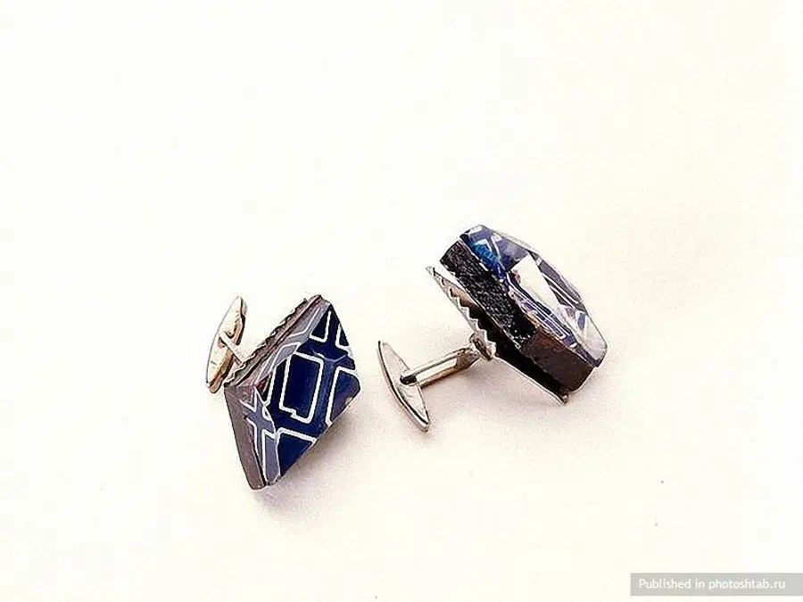 These KGB cuff links from the middle of the 20th Century had a hidden compartment inside.
