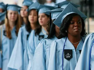 Women are 57% of college graduates and 63% of masters degree holders, but that majority fades as careers progress.