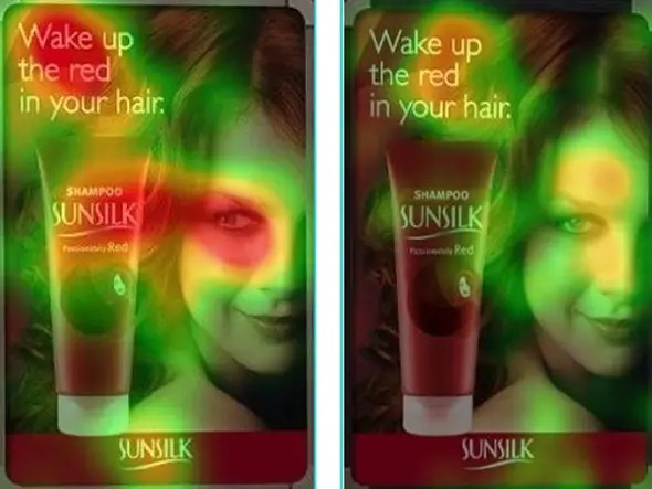These Sunsilk ads show that just putting a pretty face on a copy isn't enough. It matters where she's looking.