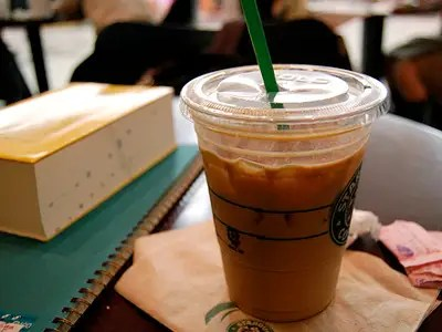 Ask that your Starbucks order be put in a cup one size larger.