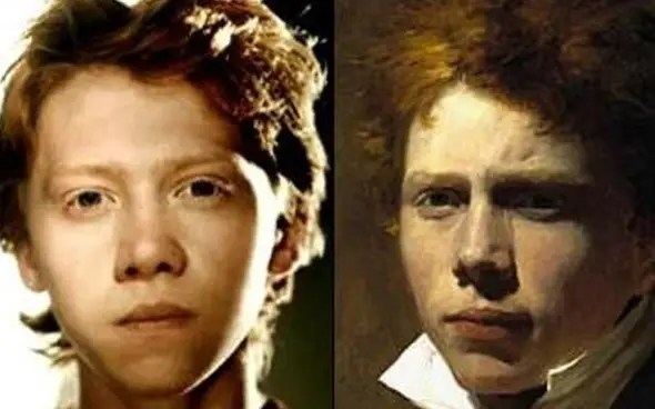 "Rupert Grint from ""Harry Potter"" looks like Scottish painter Sir David Wilkie."