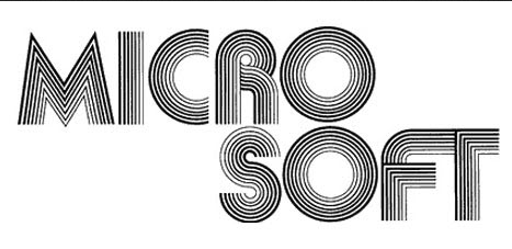 1975: Microsoft appeared to be inspired by the disco era.
