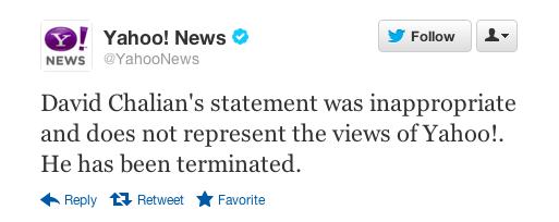 Yahoo apology