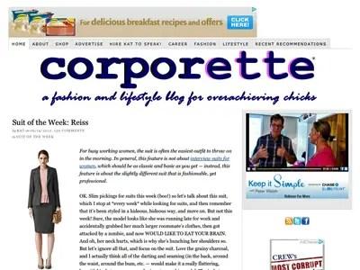 6) Corporette