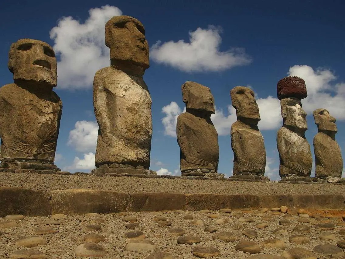 Gawk at the mysterious Moai statues on Easter Island.