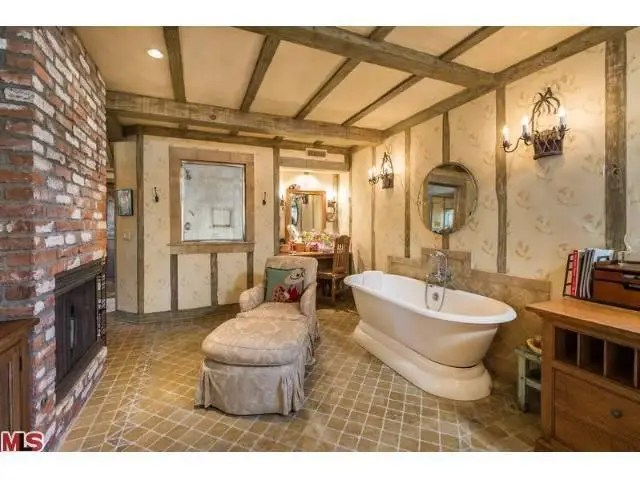The master bath doubles as a living room.
