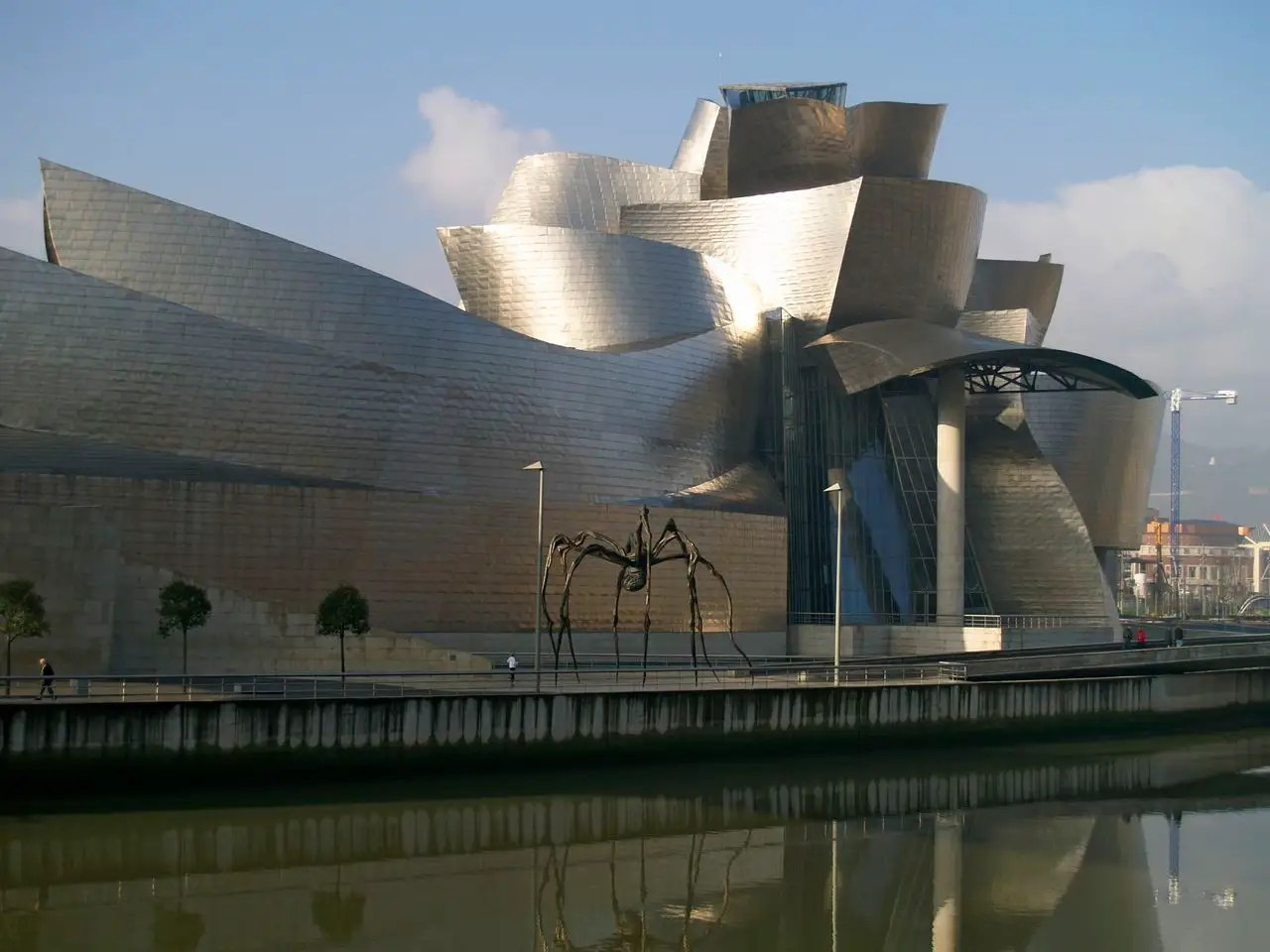 The Guggenheim Museum Bilbao in Bilbao, Spain is a work of art itself. It has also put Bilbao, an industrial city, on the map as a center for art.