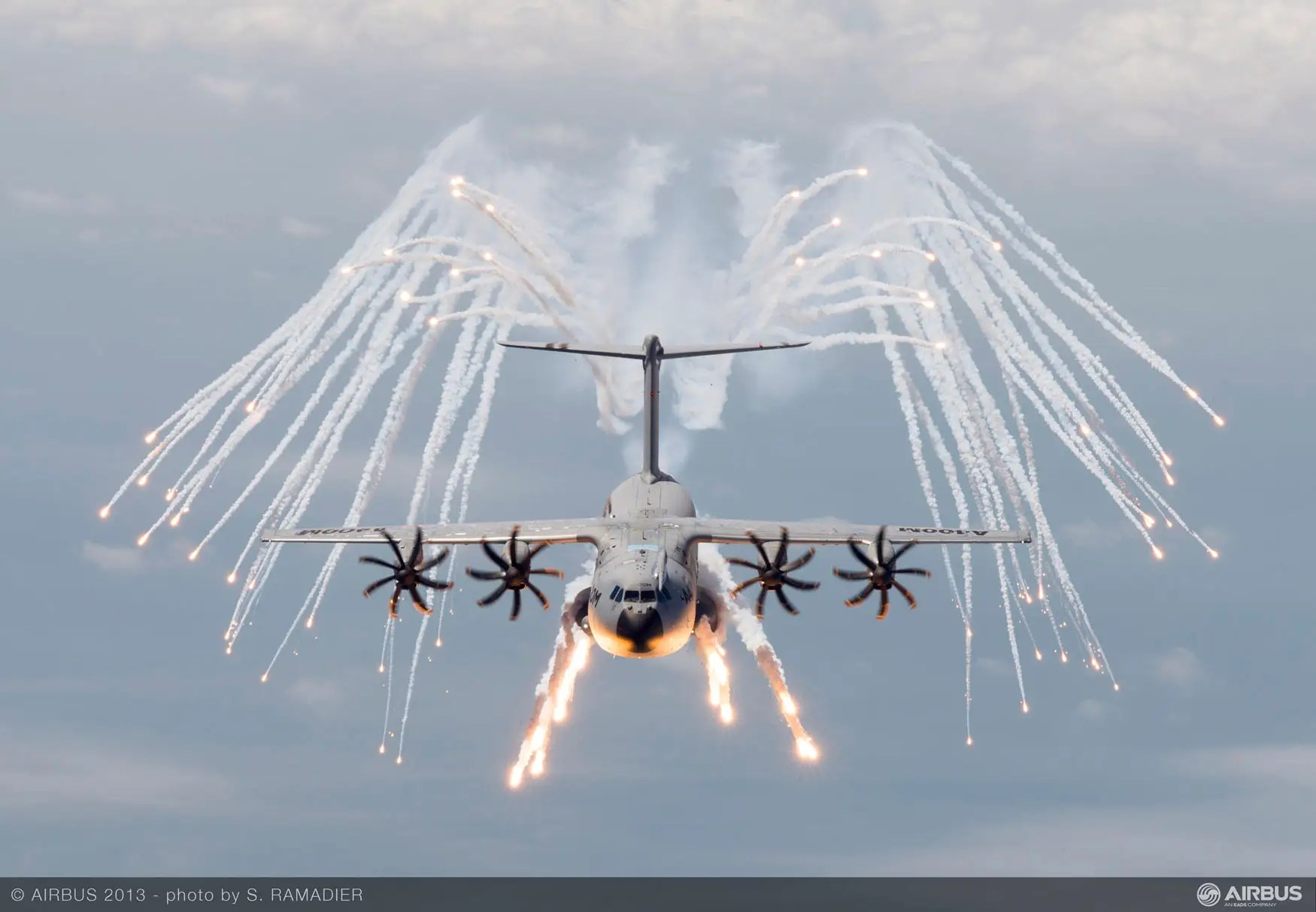 "The cargo plane comes with an armored cockpit, bullet-resistant windscreens. It can release flares, which make heat-seeking missiles less effective. Airbus calls the A400M ""hard to find, hard to hit and hard to kill."""
