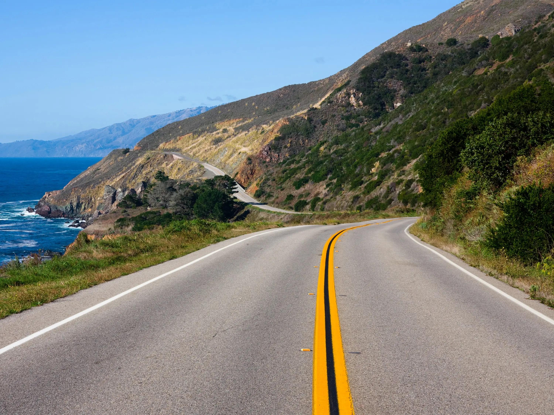 CA coast, road, drive