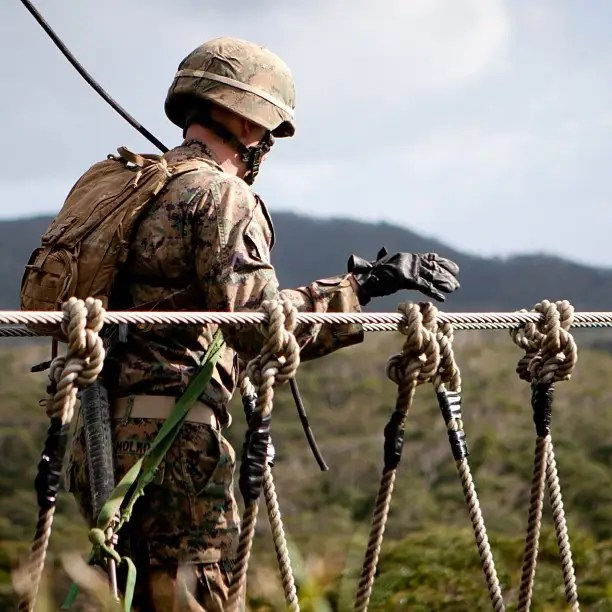 Marines have several ways to cross gaps.