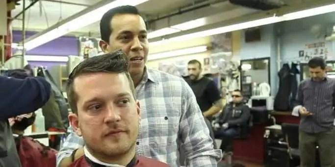 Beard trim at Astor barber shop