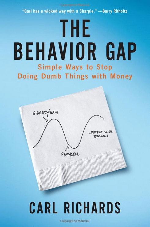 """""""The Behavior Gap: Simple Ways to Stop Doing Dumb Things with Money"""" by Carl Richards"""