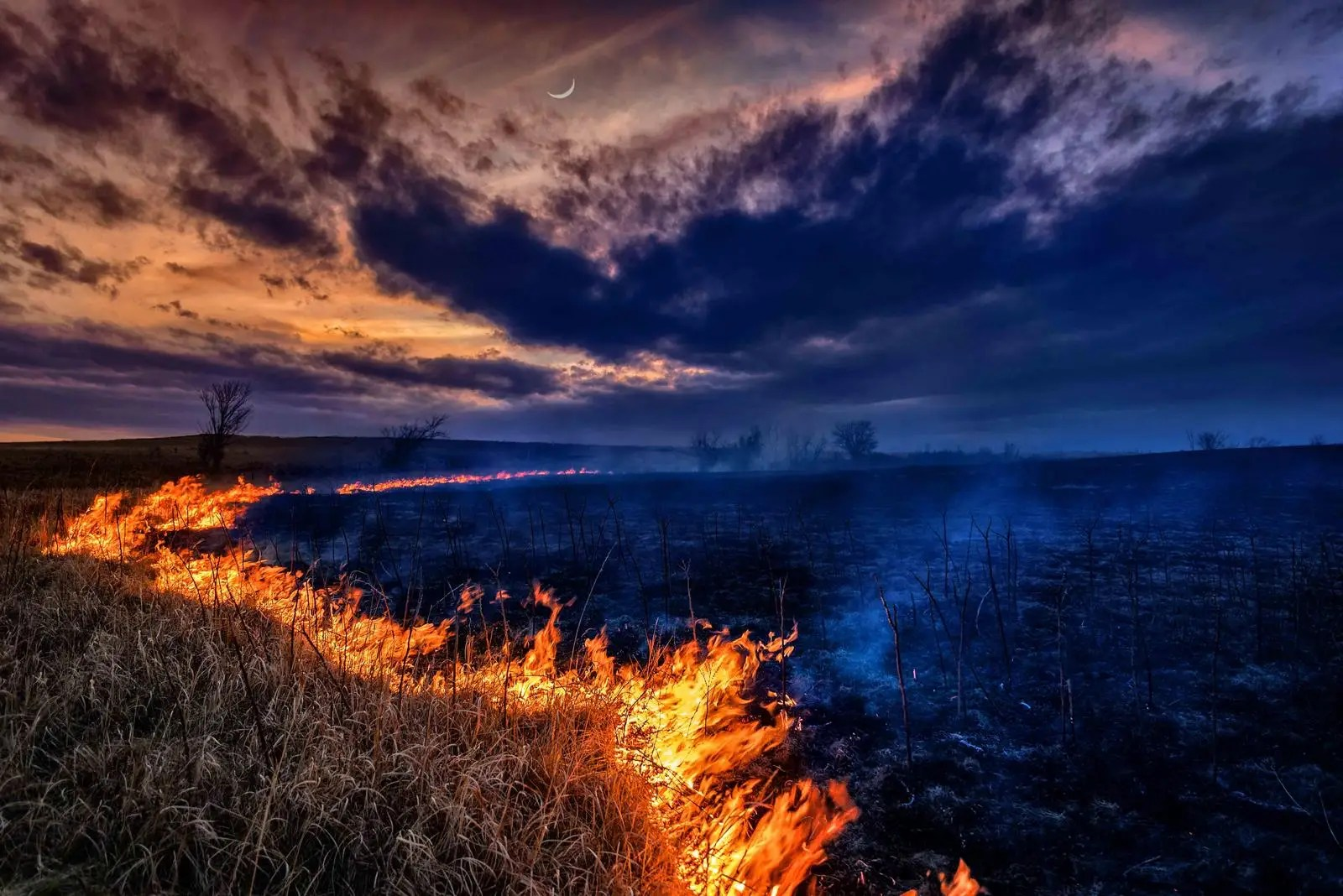 This shot of a controlled burn in Shawnee County, Kansas, was one of the most amazing photos we spotted in the Nature Conservancy's photo contest.