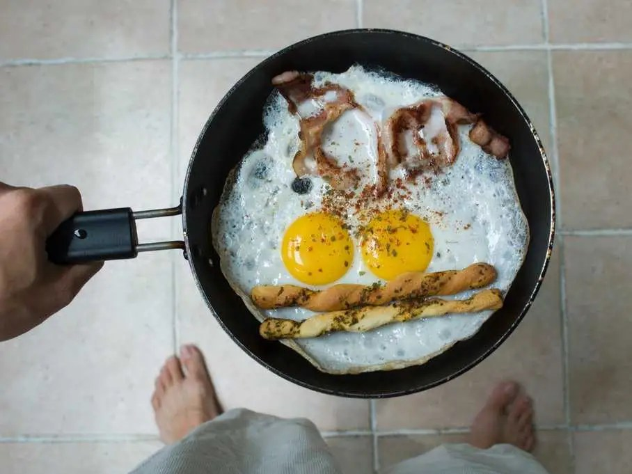 pan eggs