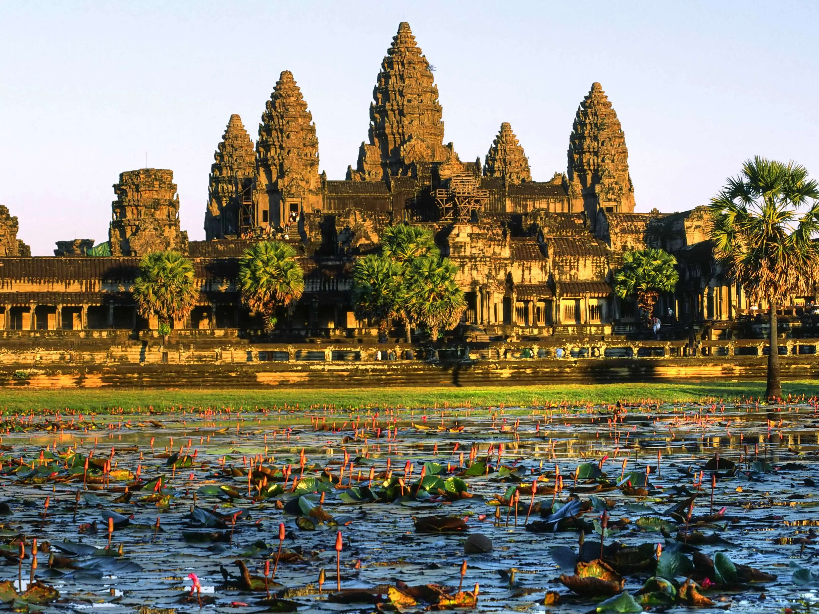 Clamber over the ruins of Angkor Wat in Cambodia.