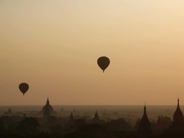 Ride a hot air balloon over Bagan, Myanmar.