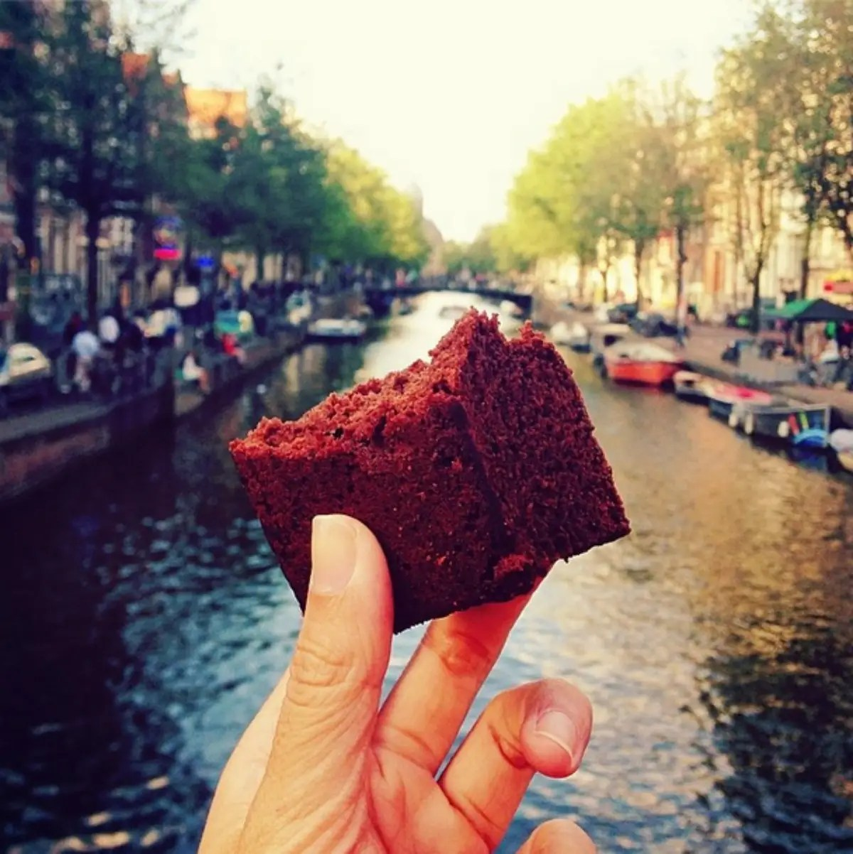 Just a brownie in Amsterdam.