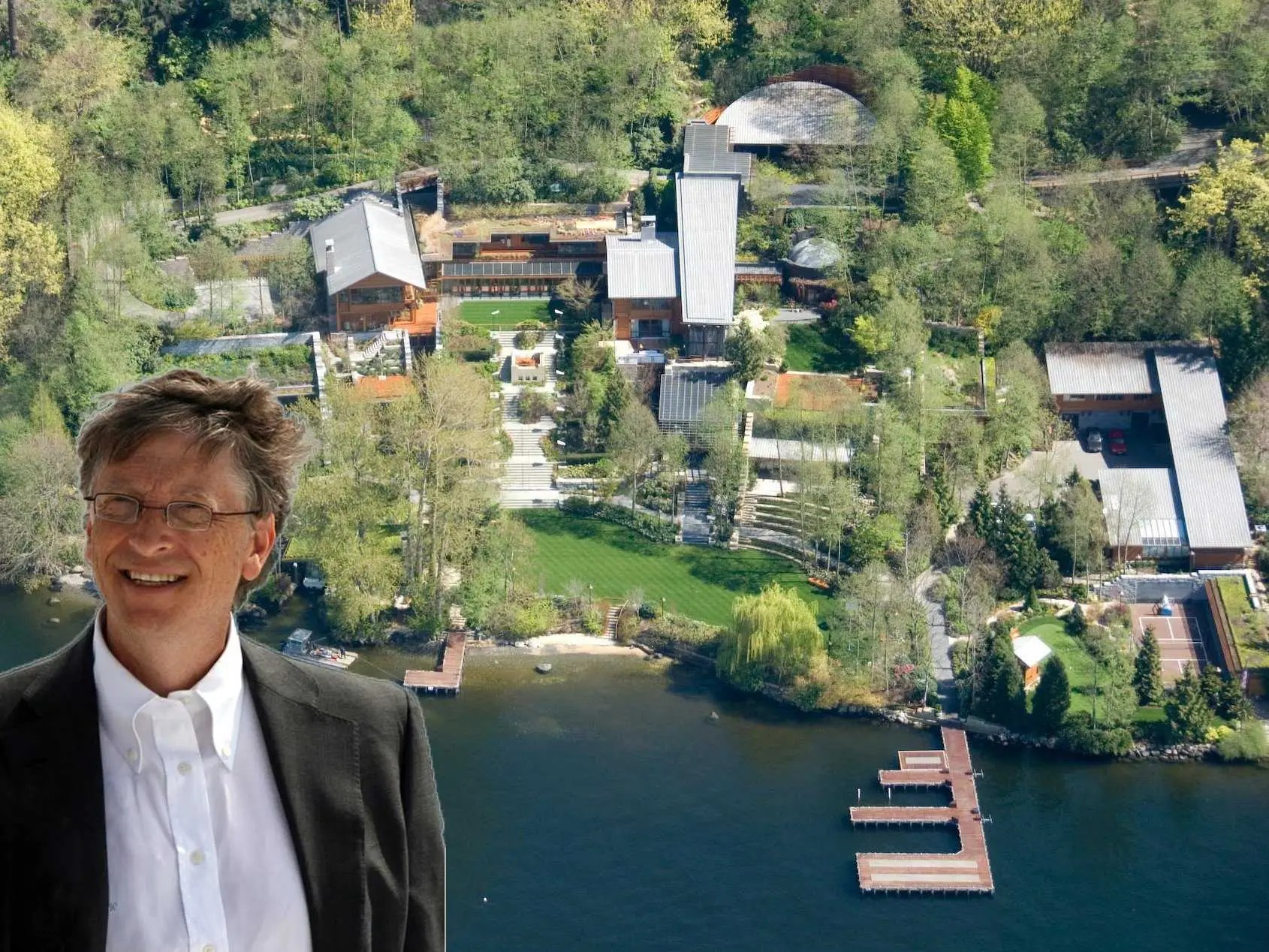 Image result for bill gates house