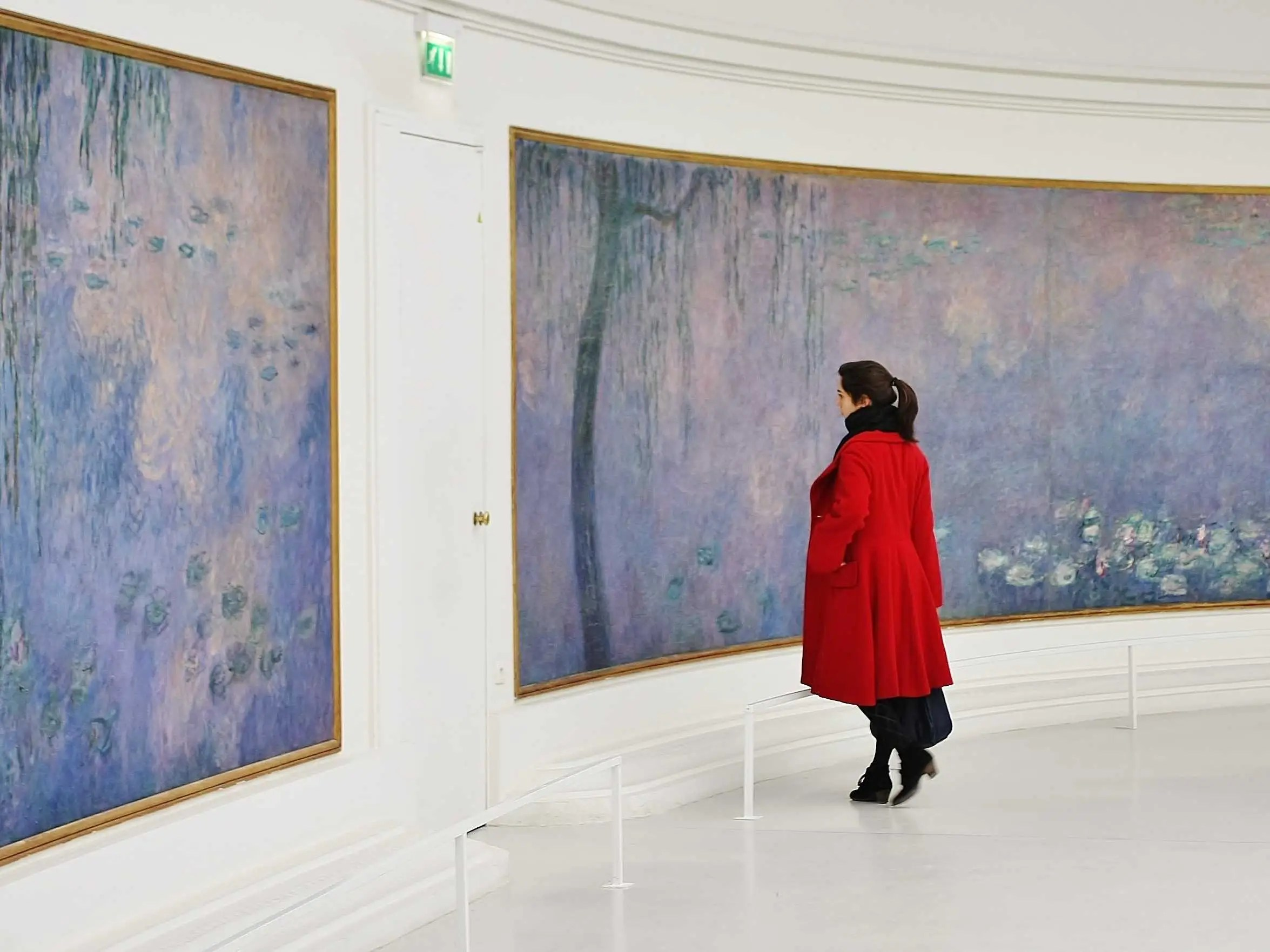 "Admire Claude Monet's enormous series of ""Water Lilies"" murals at the Musée de l'Orangerie in Paris, France."