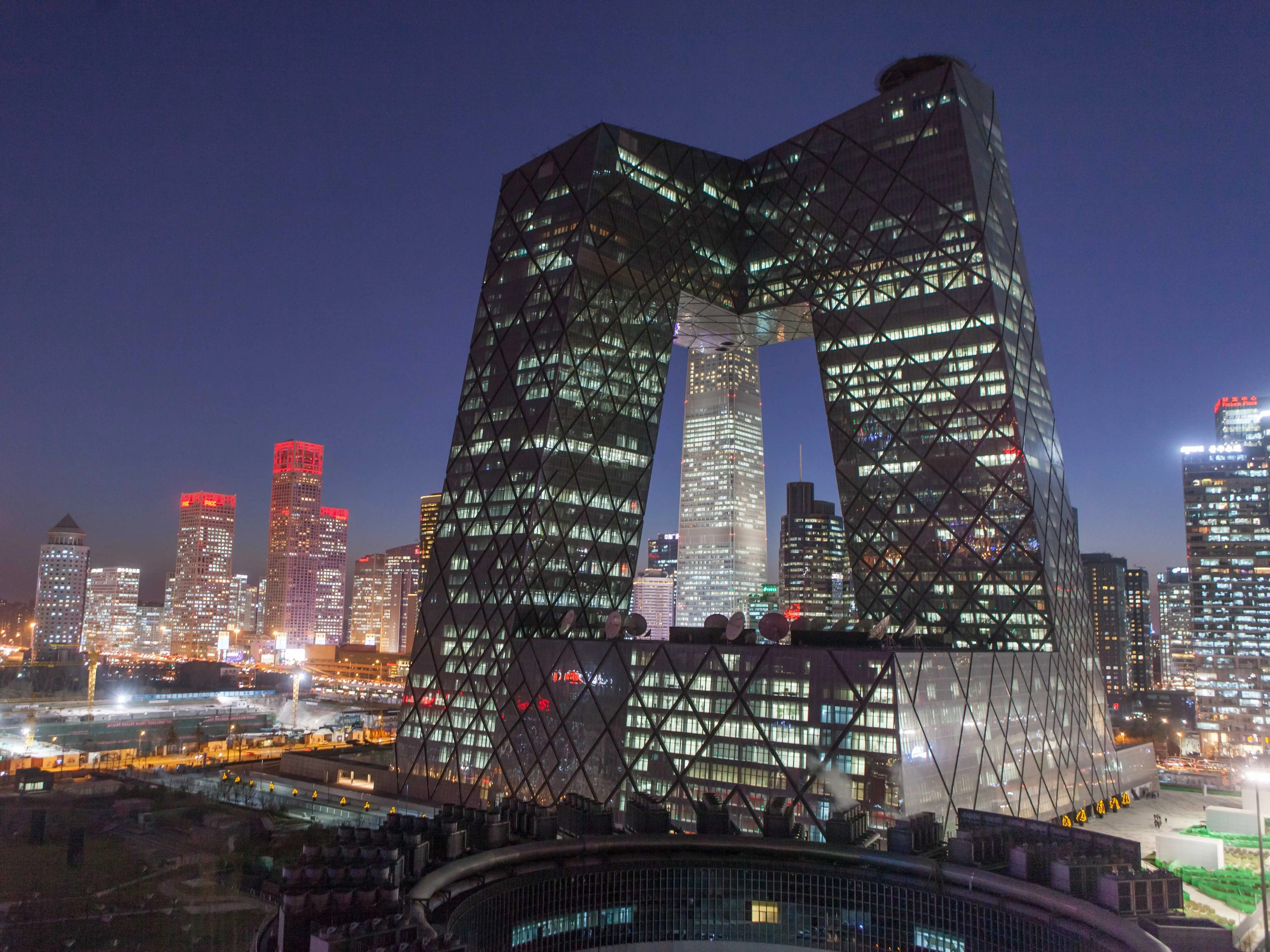 Everybody in Beijing has a special name for the CCTV Headquarters: 'big boxer shorts.'