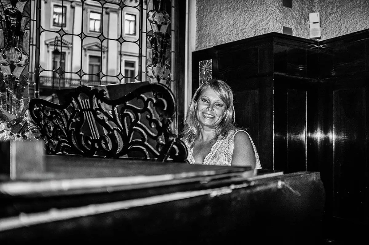 """Tatiana, age 47. Profession: Soloist and pianist. Passion or Dream: """"Music is my life. I would like to visit as many jazz festivals as possible."""""""