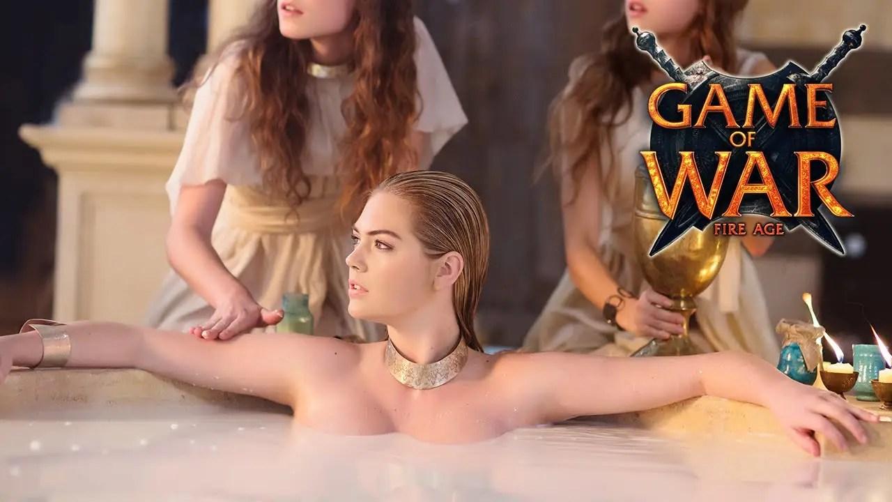 kate upton bathtub game of war