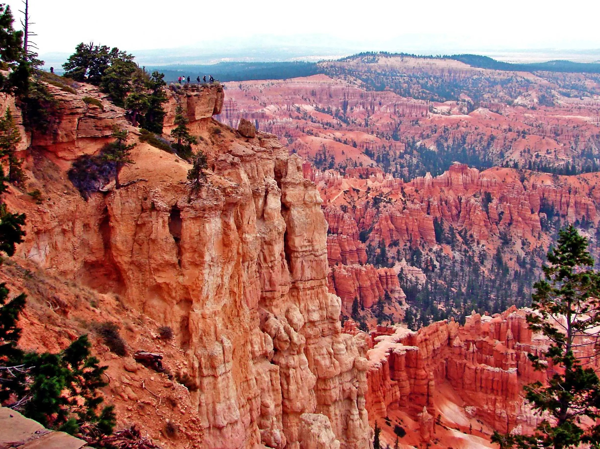Trek up to Rainbow Point, the highest part of the Bryce Canyon National Park in Utah at 9,105 feet, to see stunning views of the Aquarius Plateu, Bryce Ampitheater, the Henry Mountains, the Vermillion Cliffs, and the White Cliffs.