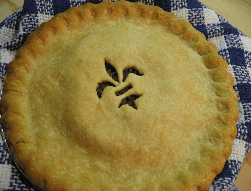 Tourtière: A French-Canadian meat pie, often served around Christmas or New Year's Eve.