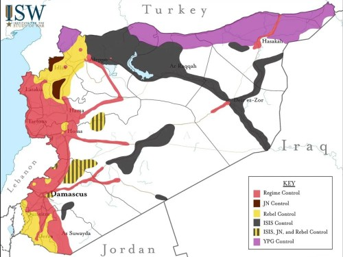 Syria Control Map june 18 2015