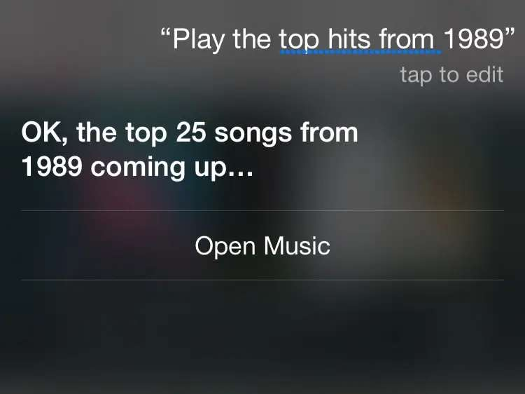 Tell Siri what you want to hear
