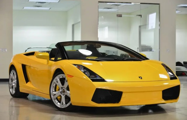 15. For slightly less than $159,000, this 2008 Lamborghini Gallardo can be purchased.