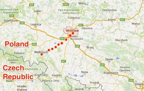 map nazi train
