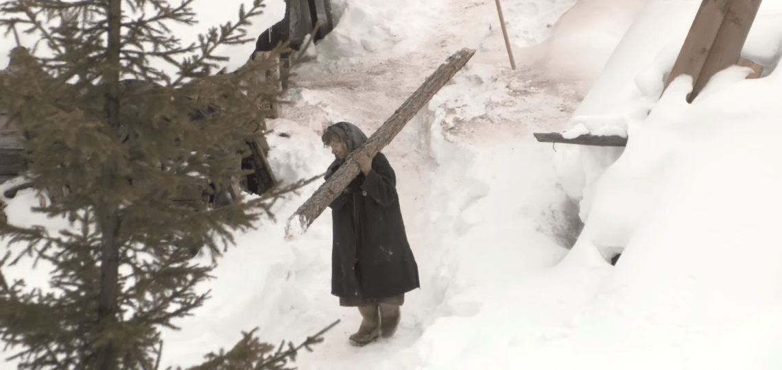 She has to chop wood for warmth: