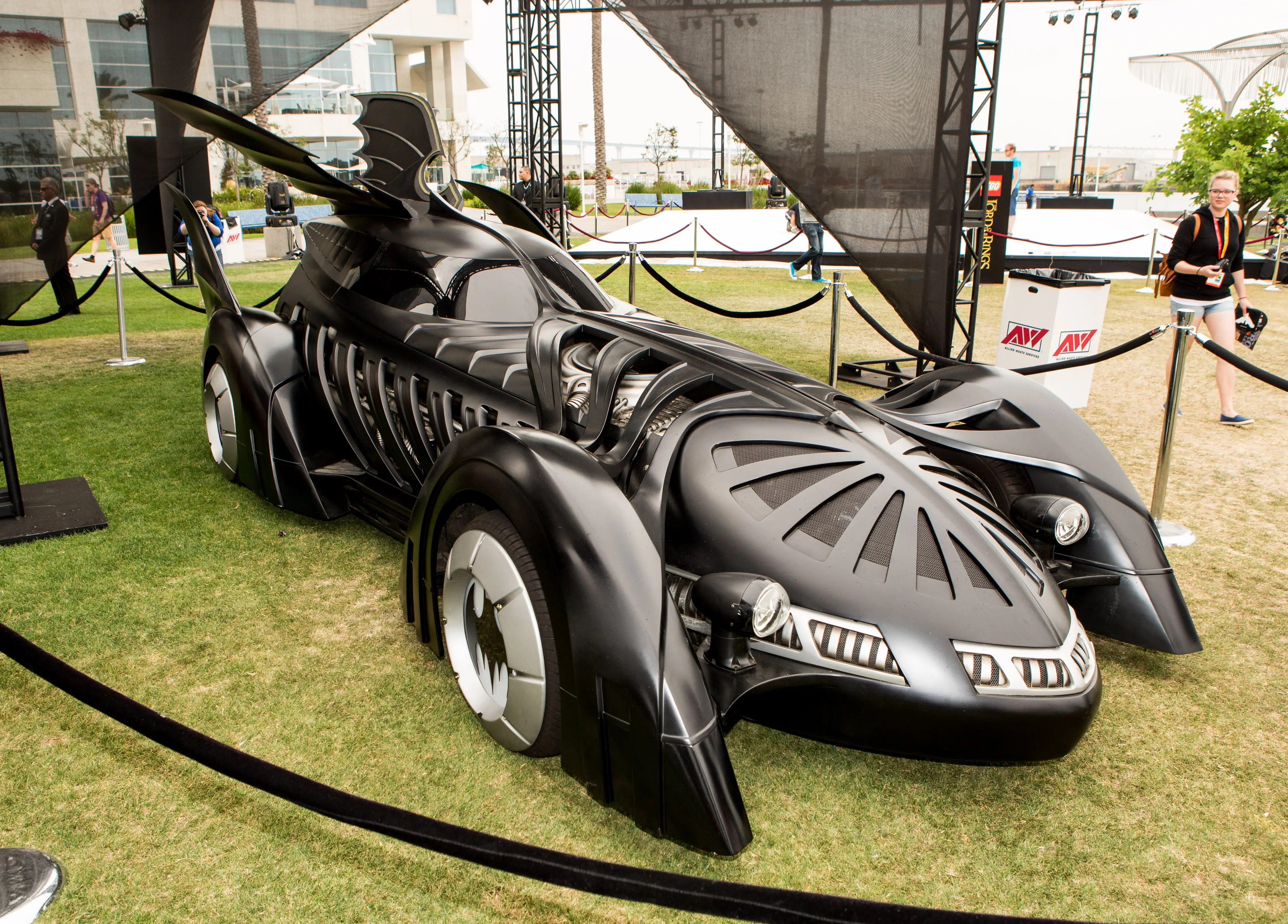 "The Batmobile in ""Batman Forever"" (1995) is one of its flashiest appearances, with an almost rib-cage-like design. Its shape is also vaguely reminiscent of the 1989 version."