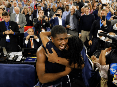 kris jenkins celebrates with family