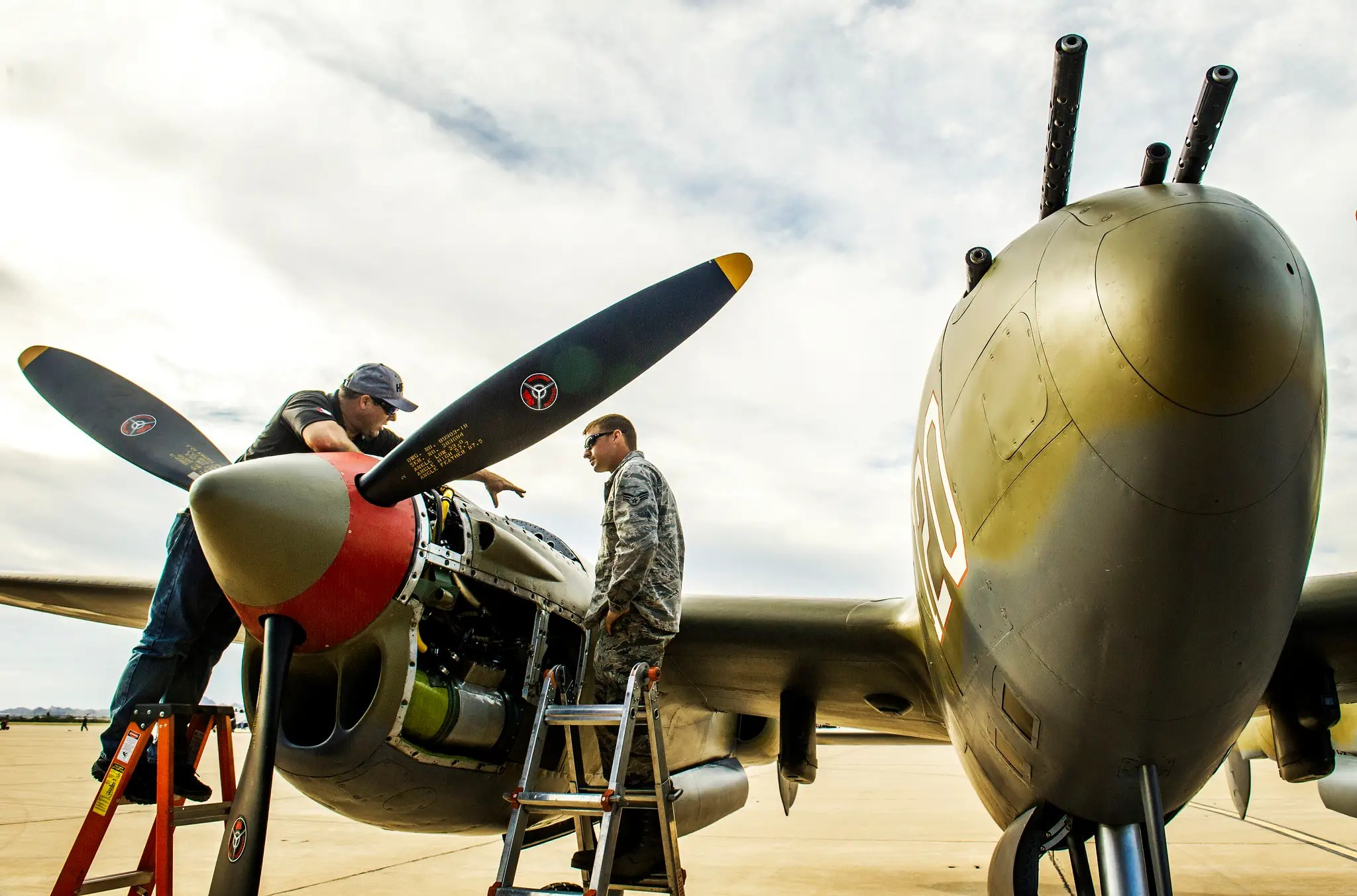 The aircraft, old and new, have to be meticulously maintained by the airmen.