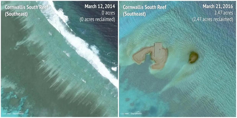 Cornwallis South Reef (Southeast): 2014 - 2016