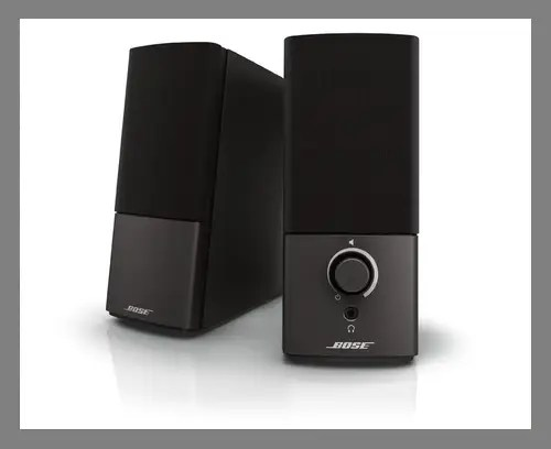 A pair of computer speakers