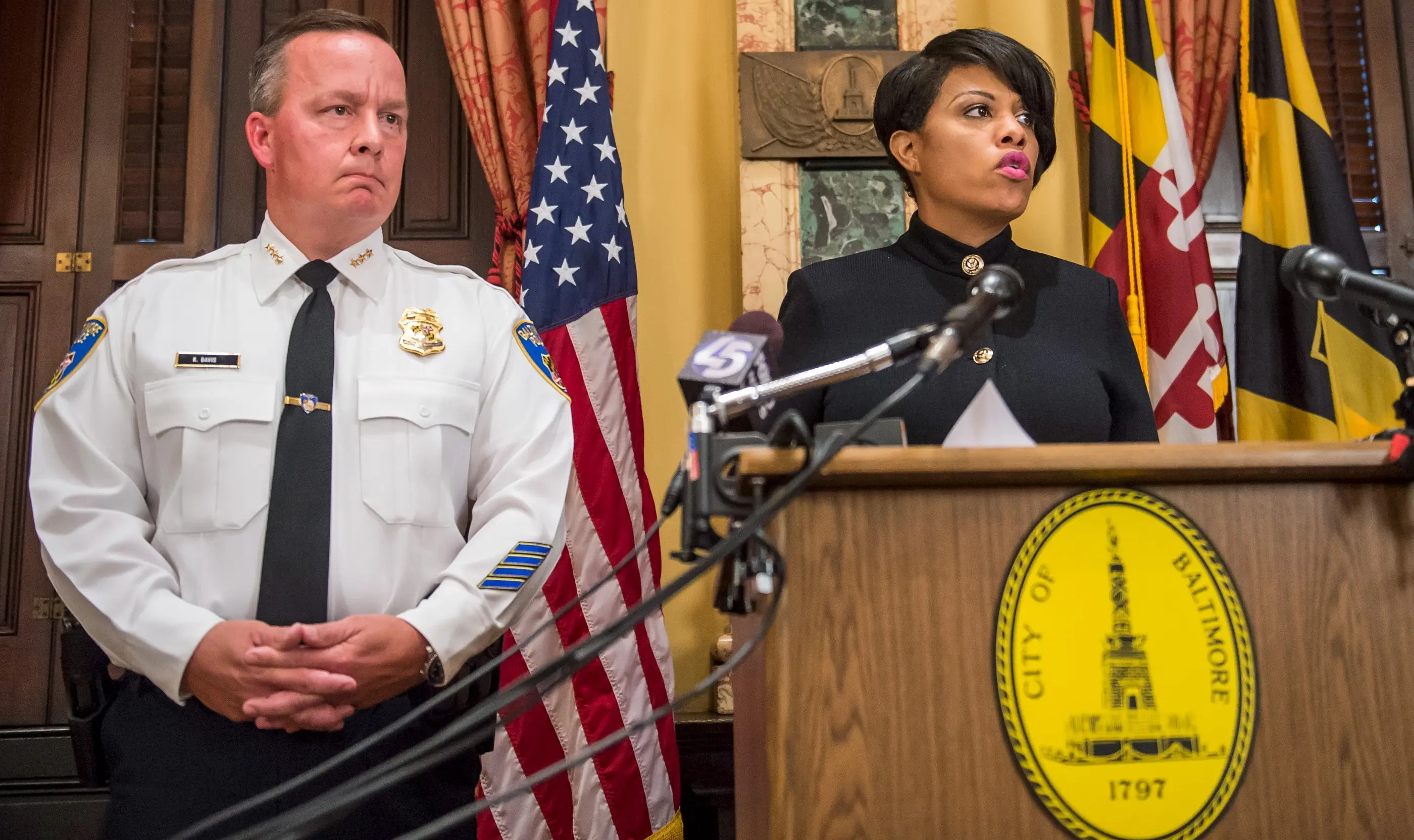 Baltimore police Stephanie Rawlings-Blake