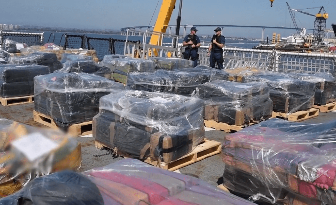 Cocaine busted in pacific ocean by US coast guard