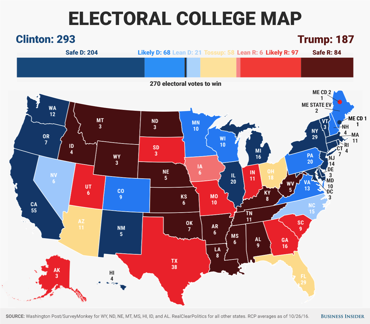 Business Insider Electoral Projection Florida Is Up For