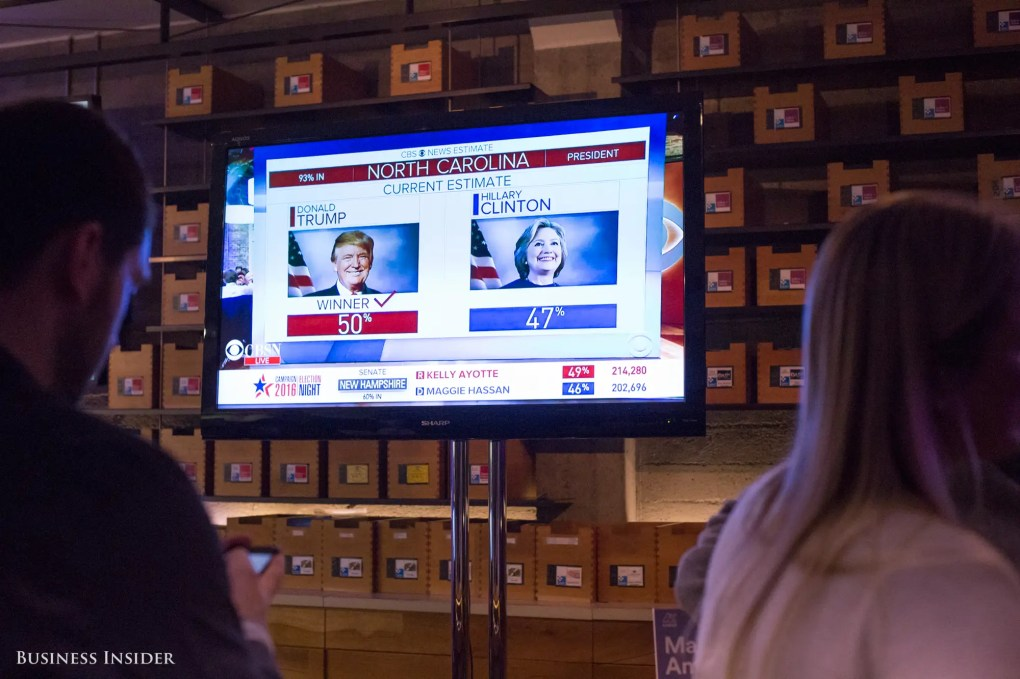 While Proposition 64 was on their minds, another political race captivated the room.