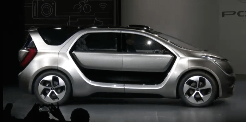 1. Fiat Chrysler unveiled a concept car geared for high-tech millennials at CES this year. The car isn't all that eye-catching purely from an aesthetic perspective. It's large, boxy, and heavy looking...