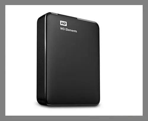 An external hard drive