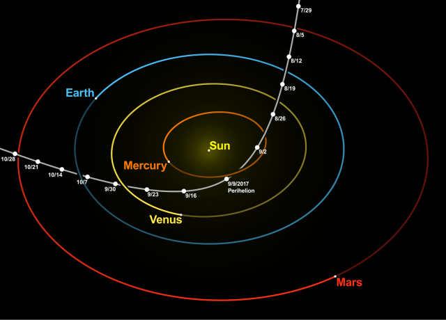 Oumuamua orbit path space planets solar system wikipedia