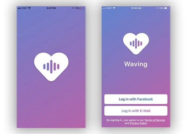 Waving app Intro screenshot