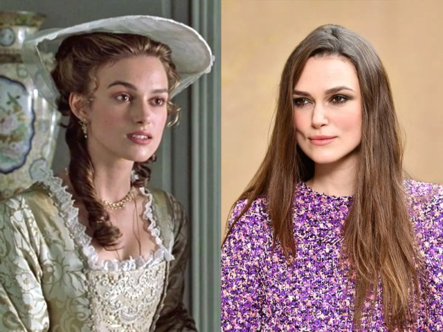 Keira Knightley Elizabeth Swann Pirates of the Caribbean Curse of the Black Pearl then and now Getty Images Disney
